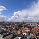 Bygninger oven fra i midten af københavn